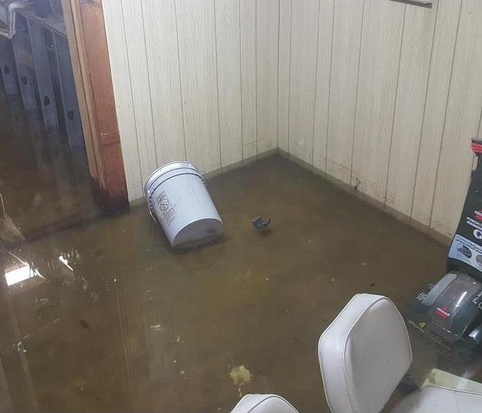 Flood Damaged Basement in Rio Rancho