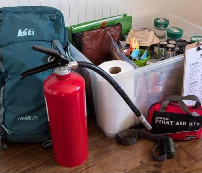 Disaster preparedness kit - emergency items needed in a disaster