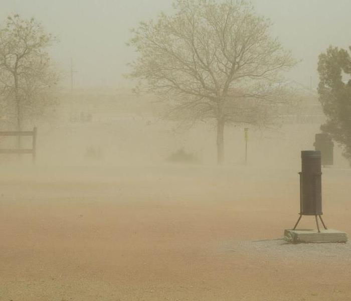 Windstorm with dust